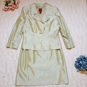 JS Collections pale green dress jacket suit